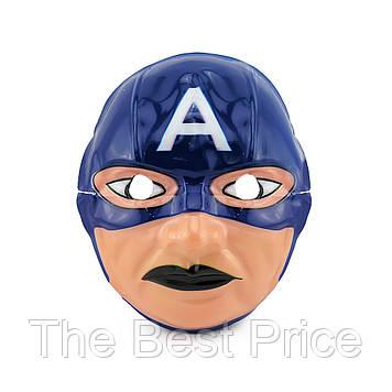 Маска Детская Капитан Америка (уп. 12шт) пластик