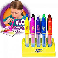 Воздушные фломастеры Airbrush Magic Pens E 018 аэрограф с подставкой