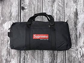 Чоловіча спортивна сумка чорна Supreme, фото 3