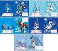 Набор тетрадей ученических 18 листов ТЕТРАДА DISNEY Frozen Олаф линия картонная обложка 5 дизайнов 20 шт