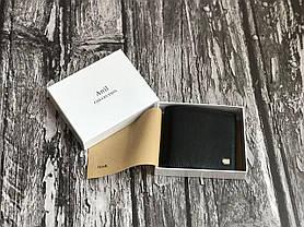 Чоловічий чорний гаманець з натуральної шкіри, фото 3