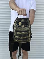 Чорна надійна сумка через плече, камфляжная, фото 3