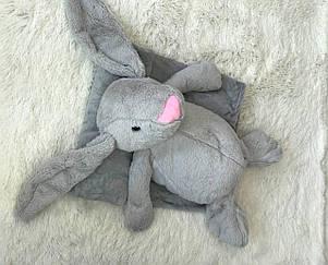 Іграшка-плед зайчик сірий, фото 2