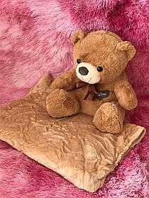 Іграшка-плед ведмедик