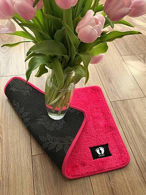 Небольшой розовый коврик (прикомнатный), фото 2