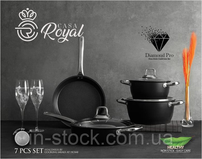 "Набір посуду САЅА ROYAL P-UKR 20100 black ""Greblon Diamond Pro"""