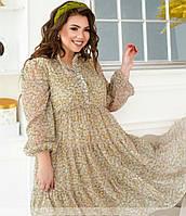 Женское шифоновое платье в больших размерах