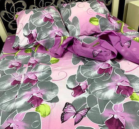 Постільна білизна полуторна Орхідея, фото 2