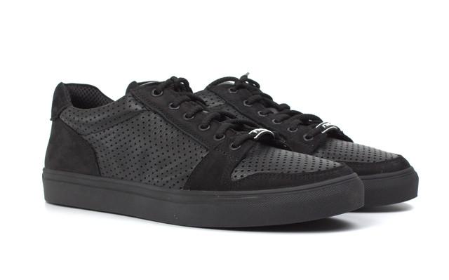 Летние черные кроссовки кожаные мужская обувь больших размеров Rosso Avangard Nice BlackFlotoPerf TPR BS