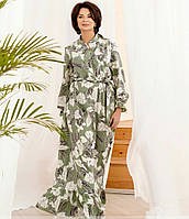 Женское длинное платье с длинным рукавом в больших размерах
