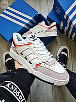 Чоловічі кросівки Adidas Drop Step White\Grey\Orange, фото 1