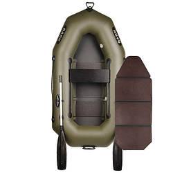 Надувний човен ПВХ Барк В-210 гребний, одномісна з слань-книжкою