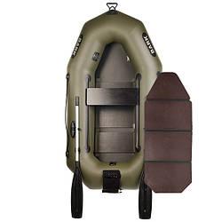 Надувний човен ПВХ Барк В-210N гребний, одномісна з слань-книжкою
