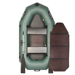 Надувний човен ПВХ Барк В-230D гребний, двомісна зі слань-книжкою