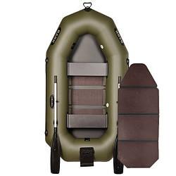 Надувний човен ПВХ Барк В-230N гребний, двомісна зі слань-книжкою