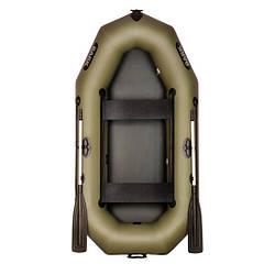Надувний човен ПВХ Барк В-240D гребний, двомісна зі слань-книжкою