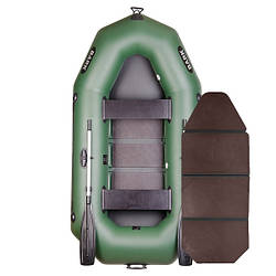 Надувний човен ПВХ Барк В-250 гребний, двомісна зі слань-книжкою