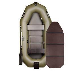Надувний човен ПВХ Барк В-260N гребний, двомісна зі слань-книжкою