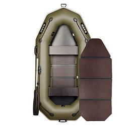 Надувний човен ПВХ Барк В-260P гребний, двомісна зі слань-книжкою