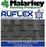 Битумная черепица MALARKEY RUFLEX LUX FLEXOR Windsor XL SBS Серый шторм, фото 1