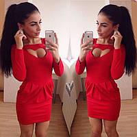 Платье  женское красное  серце  оригинал