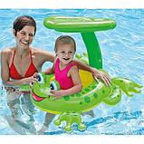 Надувной плотик лягушонок Intex 56584 Froggy Friend Shaded Baby Float, фото 2