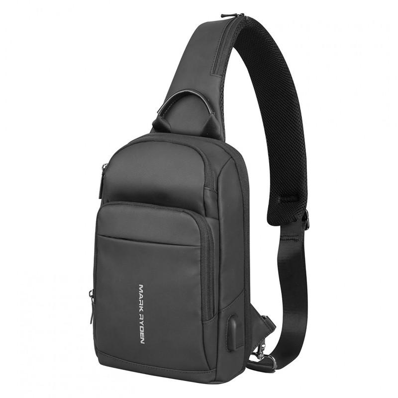 Рюкзак мужской с одной лямкой Mark Ryden MiniMax Black Городской стильный рюкзак на одно плечо