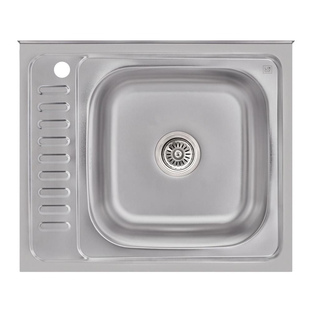Кухонная мойка Lidz 6050-R 0,6 мм Satin (LIDZ6050R06SAT)