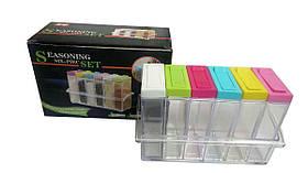 Кухонная подставка с шестью емкостями для специй Seasoning six piece set