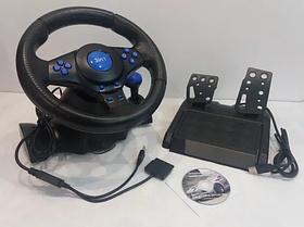 Ігровий мультимедійний універсальний кермо 3в1 PS3 / PS2 / PC USB з педалями газу і гальма