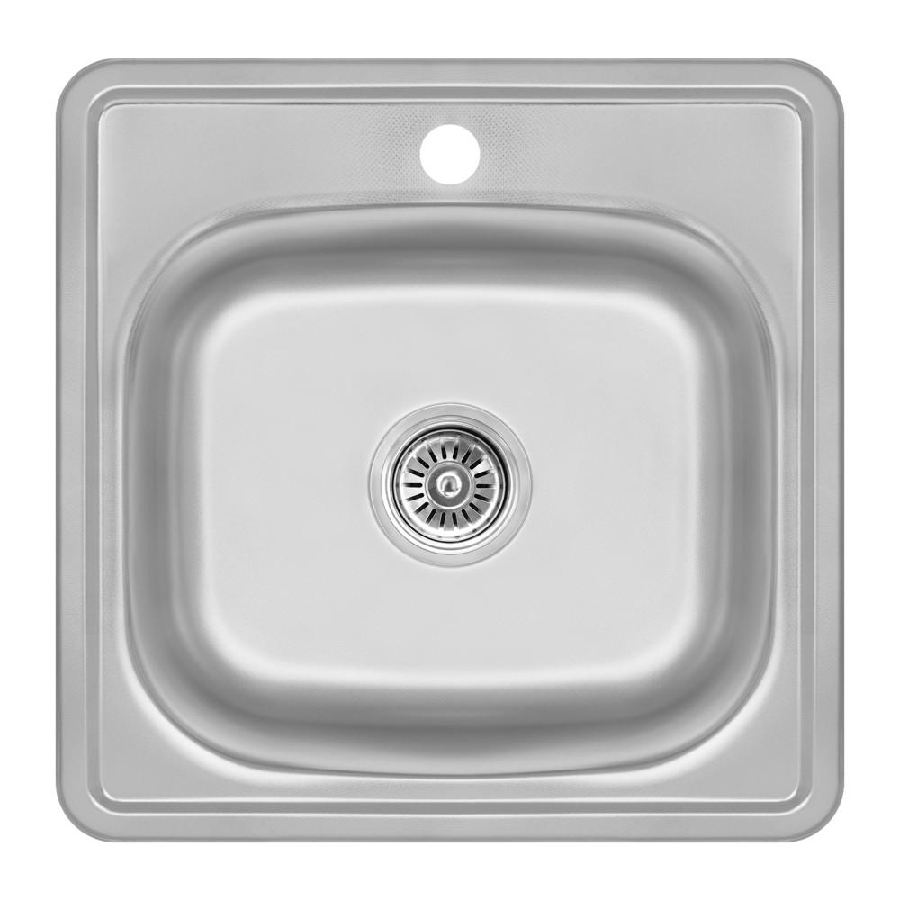 Кухонна мийка Lidz 4848 Decor 0,6 мм (LIDZ4848DEC06)