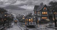 Репродукция на холсте: Сан-Франциско, трамвай