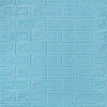 Декоративная 3D панель стеновая самоклеющаяся под кирпич БИРЮЗОВЫЙ 700х770х5мм (в упаковке 10 шт)