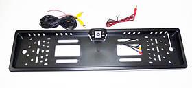Камера заднего вида в рамке автомобильного номера Черная
