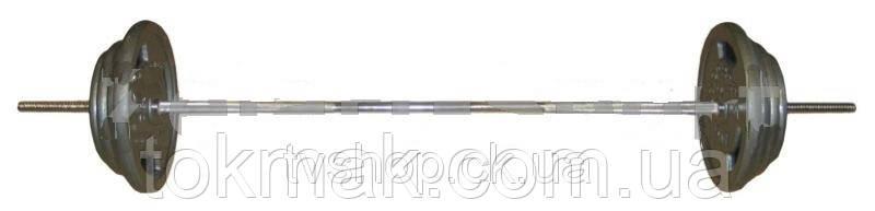 Штанга (стальные блины) 115кг TA-2431-115 (гриф TA-8068 l-1,8м, блины 2*(7,5+10+15+20кг)