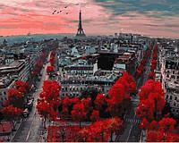 Набор для творчества Алые краски Парижа Картина по номерам Rainbow Art акриловая живопись на холсте GX4887-RA