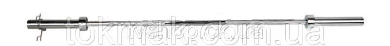 Гриф для штанги Олимпийский прямой TA-8071 (l-1,8м, рук.d-50мм, гр.d-30мм, вес 14кг, замок пружин)