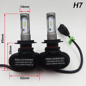 Світлодіодні LED лампи для фар автомобіля S1-H7