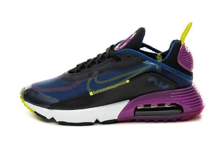 Кроссовки мужские Nike Air Max 90 синие / мужские кроссовки Найк Аир Макс (Топ реплика ААА+)