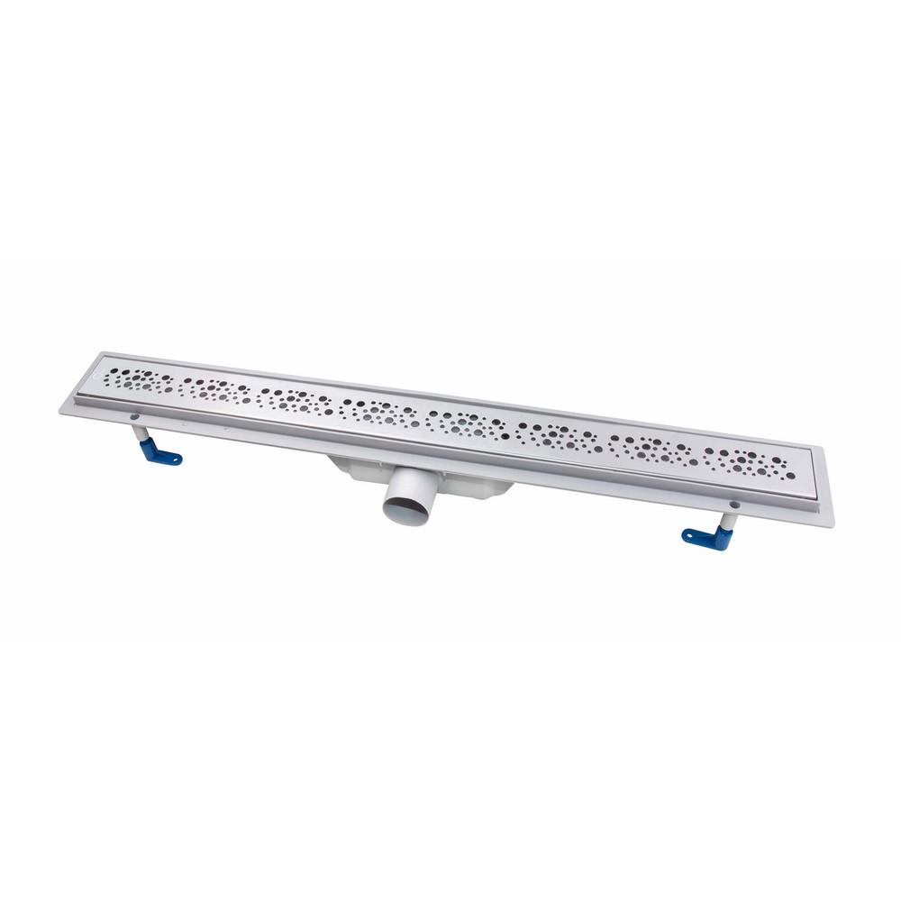 Трап лінійний Qtap Dry FC304-800 з нержавіючої сіткою 800х73