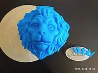 Молд силиконовый кондитерский для мастики шоколада ЛЕВ 13 см выс 4,5 см