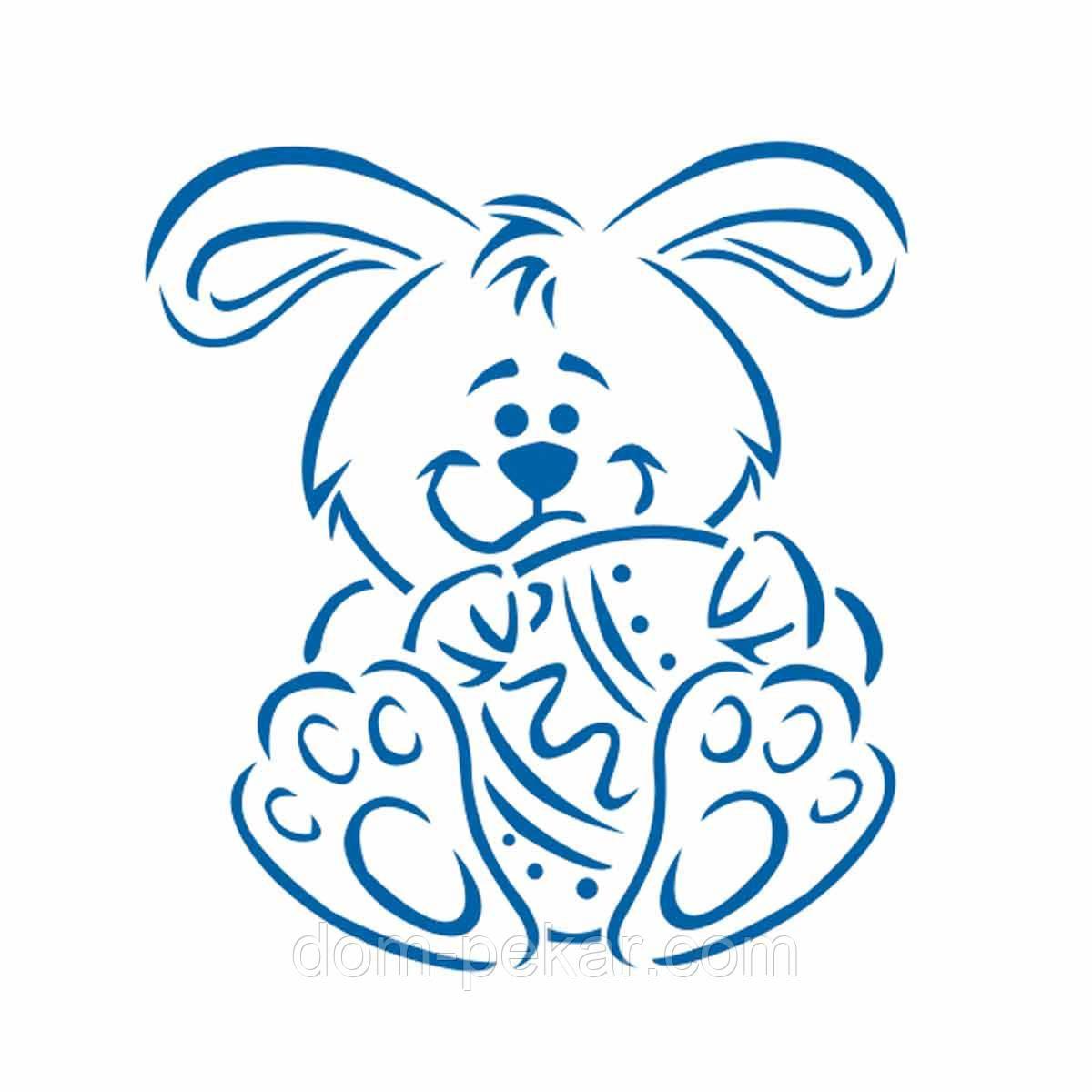 Пасхальный кролик трафарет для пряника 10*9 см (TR-2)