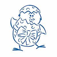 Цыпленок в скорлупе трафарет для пряника 10*7,5 см (TR-2)