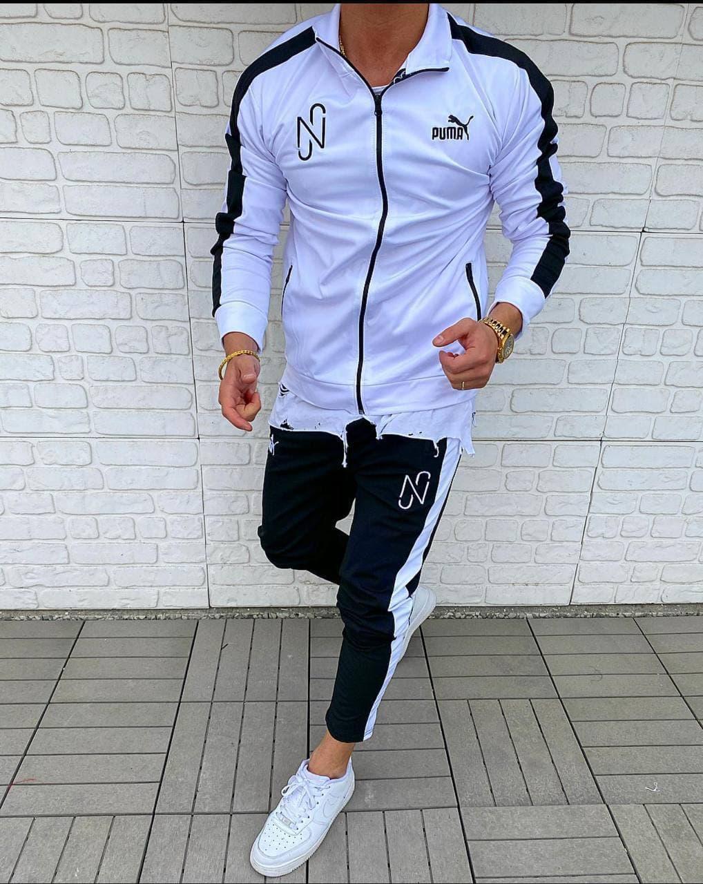 Мужской спортивный костюм Puma Black/White