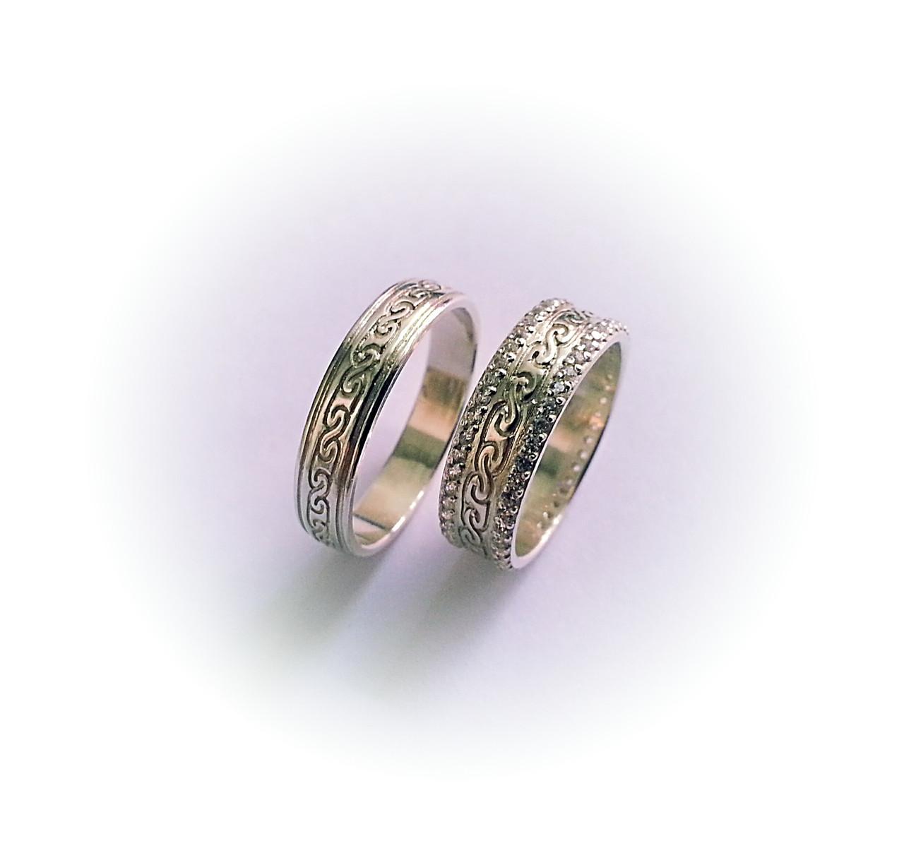 0daf8b2317ad Классические серебряные обручальные кольца - Jewerly Company OBEREG в  Харькове