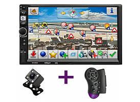 Автомагнітола 2 din Android CML-PLAY 8702 + камера заднього виду і пульт на кермо