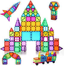 Магнітний конструктор BMAG 120 PCS Magnetic Building Blocks, 3D Magnet Building Tiles