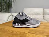 Чоловічі сірі текстильні кросівки Under Armour Hovr Phantom, фото 8