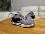 Чоловічі сірі текстильні кросівки Under Armour Hovr Phantom, фото 9