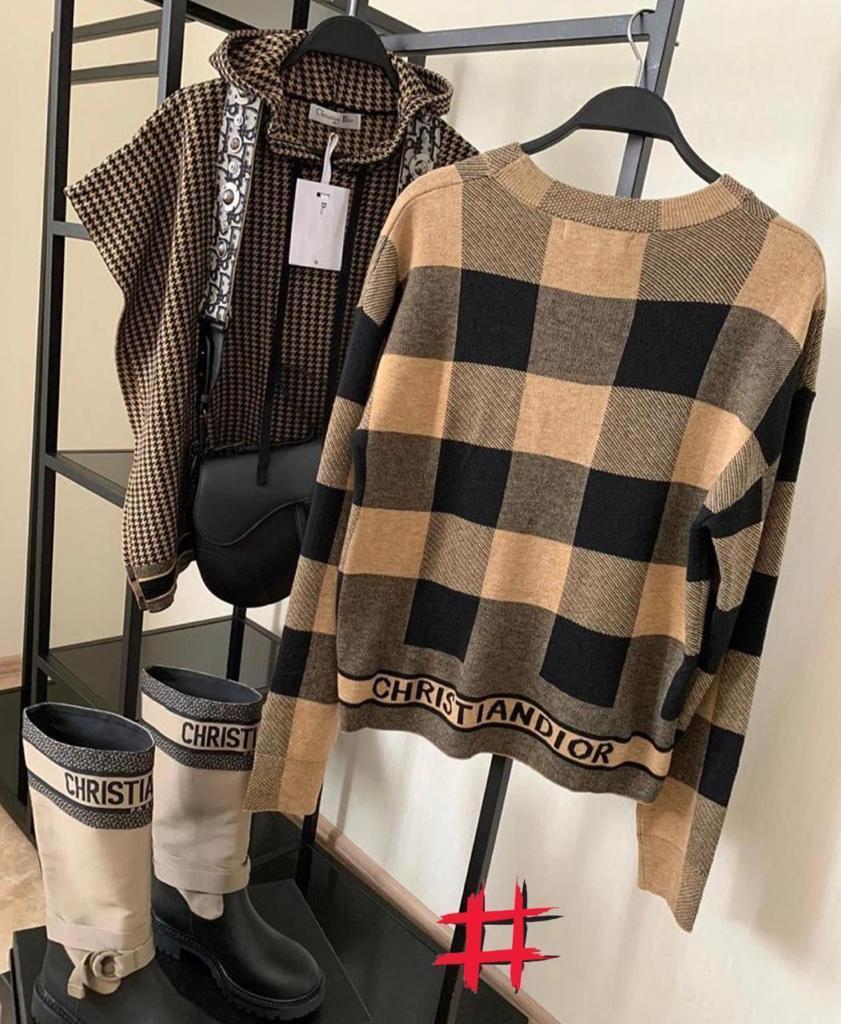 Жіночий светр\кофта\оверсайз Christian Dior (люкс копія)